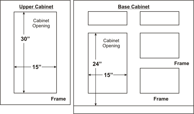 standard kitchen cabinet door sizes kitchen cabinet refacing cabinet door depot 8318